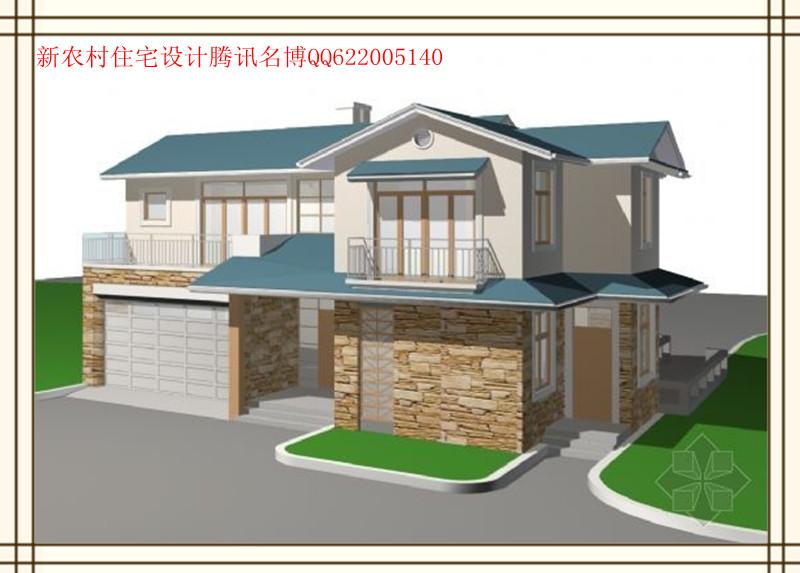 新农村房屋设计效果图 求房设计新农村三层房屋设计图纸#1205 狮象