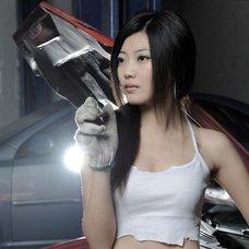 修车美女2009