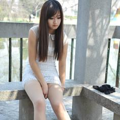 公园丝袜诱惑丝袜美女