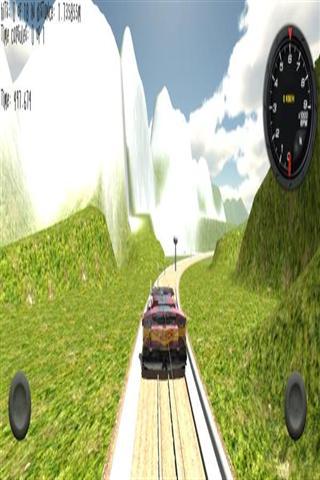 模拟列车的3D