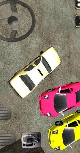 出租车司机3D驾驶室停车场