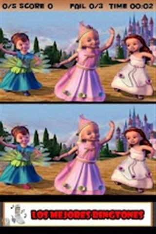 查找的差异芭比娃娃