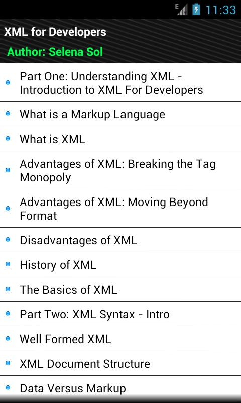 XML for Developers