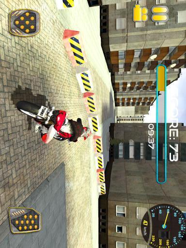 街道摩托车骑手3D-应用截图