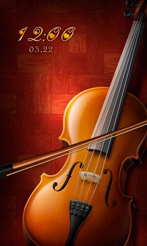 大提琴音乐主题锁屏