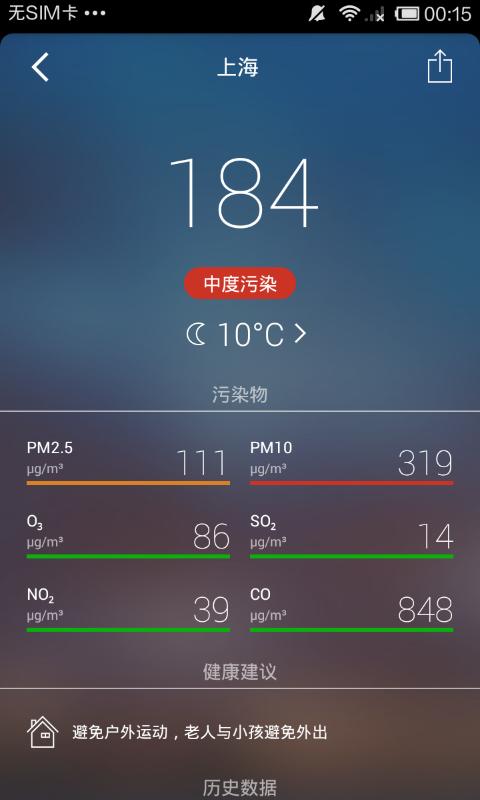 全国空气质量指数