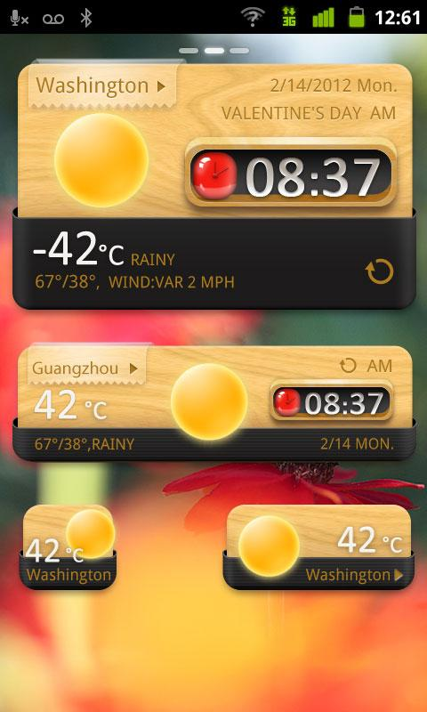GO Weather EX GO Widget QuietlyElegant theme