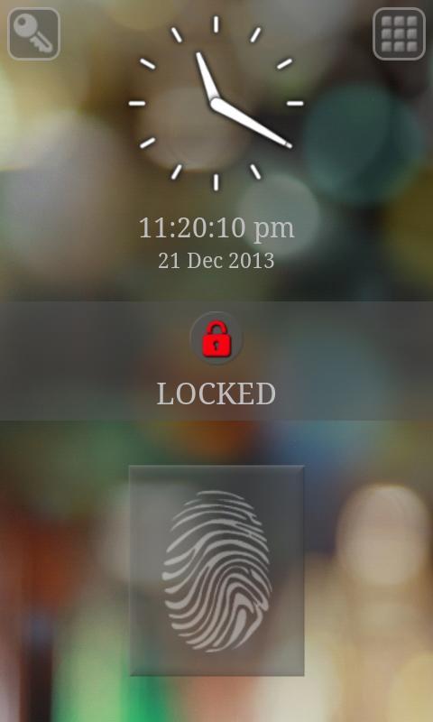 指纹 键盘锁屏幕
