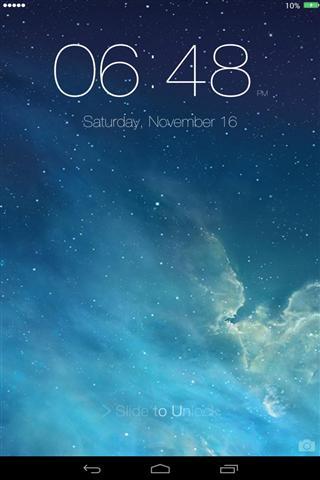 GooPhone iOS7锁屏